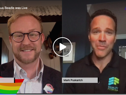 A Live Interview with Mark Puskarich with Equality Florida