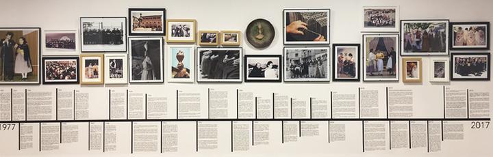 """Eje cronológico creado para la exposición """"Día de la Faldeta. Transmitiendo la cultura de un pueblo""""."""