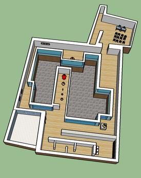 3D creado para visualizar el espacio del Museo de la Cerámica de Triana (Sevilla).