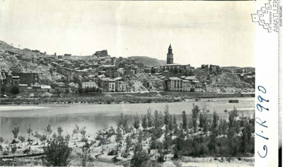 Arxiu Mas. 1957. Fraga. Vista general. R