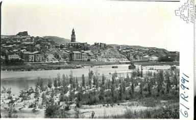 Arxiu Mas. 1957. Fraga. Vista general. .