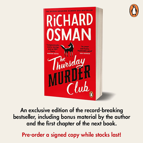 *Pre-order* Signed Indie Exclusive - The Thursday Murder Club in Paperback