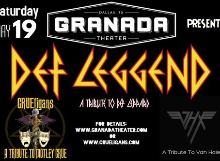 CRÜEligans will be live at the historic Granada Theater in Dallas, Tx