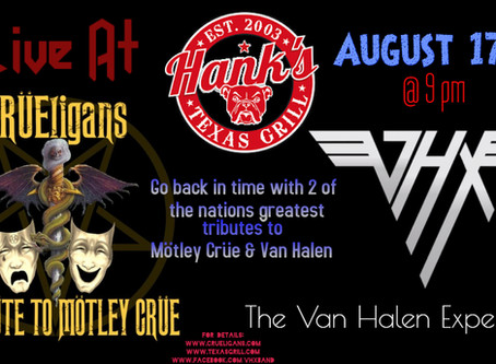 CRÜEligans are returning to Hanks!