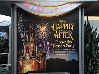 Fireworks Dessert Party at Tomorrowland Terrace