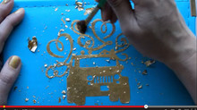 Gold Leaf Scrapbooking