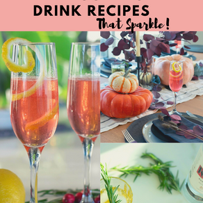 Easy Thanksgiving Table Setting and Drink Recipes That Sparkle