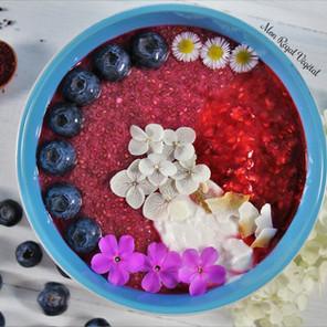 Pudding de chia rose & son coulis de framboises