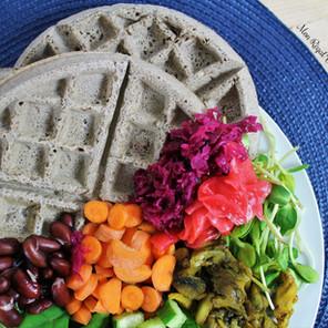 Gaufres-dîner à la farine de sarrasin & aux légumes {Végane, sans gluten}