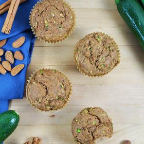 Muffins aux zucchinis (courgettes) {Végane, option sans gluten}