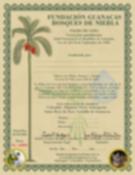 Bono palma de cera fundacion guanacas
