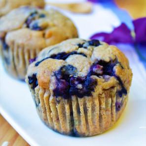 Muffins bleuets & bananes {Végane}