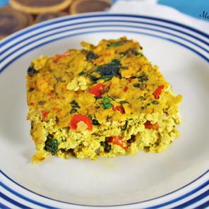 Frittata végétale au tofu & légumes {Végane, sans gluten, hypotoxique}