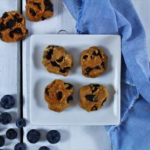 Biscuits-déjeuner protéinés à la farine d'amandes (ou graines de citrouille) & aux bleuets