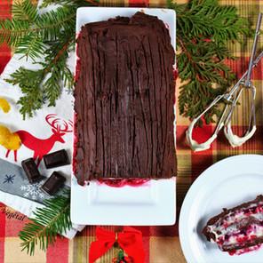 Bûche de Noël étagée de Mon Régal Végétal au chocolat