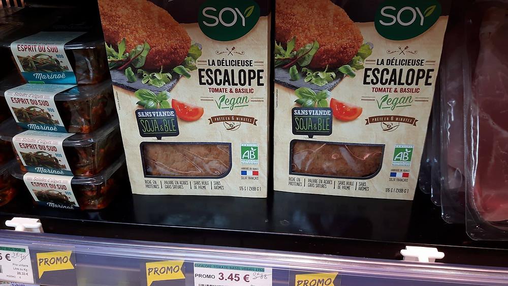 Le steak végétal de soya et blé bio