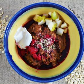 Porridge d'avoine chaud au cacao & tahini