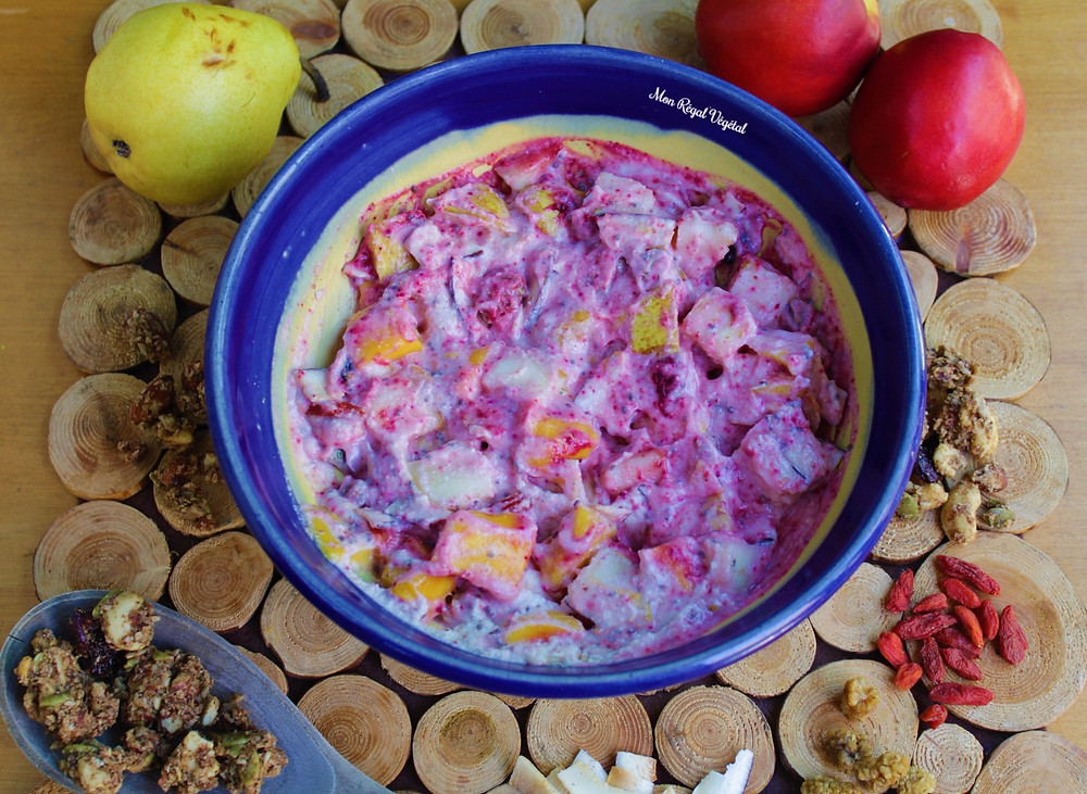 La couleur rose de ce Yum est procurée par la poudre de betterave!