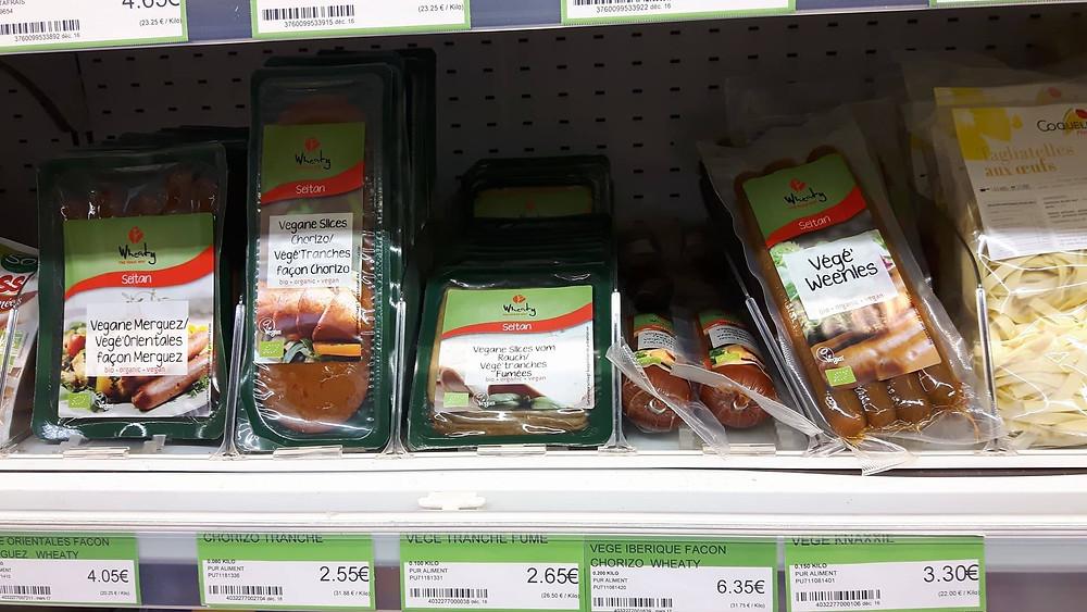 Plusieurs choix de viande végétale