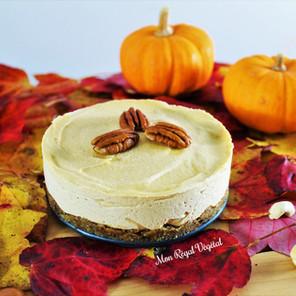 Mini gâteau sans cuisson style cheesecake à la citrouille {Végane, sans gluten}