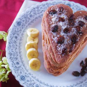 Crêpes d'amour aux betteraves {Végane, option sans gluten et hypotoxique}