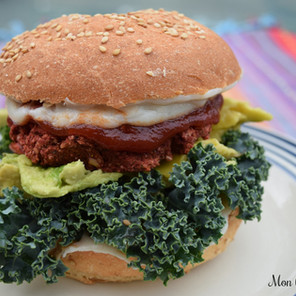 Burgers « fourre-tout » à la betterave {Végane, sans gluten, hypotoxique}