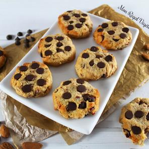 Biscuits moelleux au chocolat & à la farine d'amande