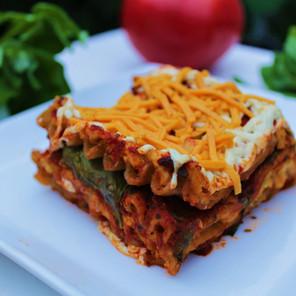 Lasagne végétale « de luxe » aux lentilles germées & légumes avec ricotta de cajou