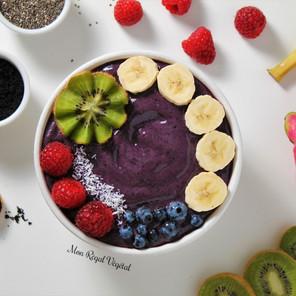Bol-smoothie antioxydant aux baies & à l'açaï {Végane, sans gluten}