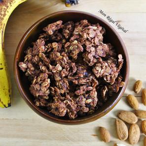 Granola banane, cacao & beurre d'amandes
