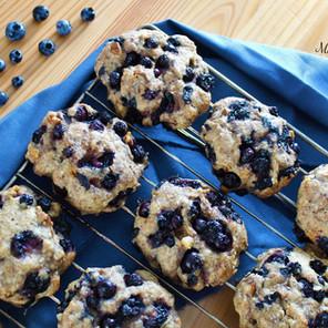 Biscuits santé aux bleuets et pacanes (style galettes déjeuner) {Végane}