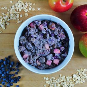Porridge d'avoine chaud à la cannelle (et aux pommes ou aux bleuets)