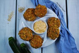 Galettes de poisson & crevettes aux légumes (style crab cakes) avec mayo épicée