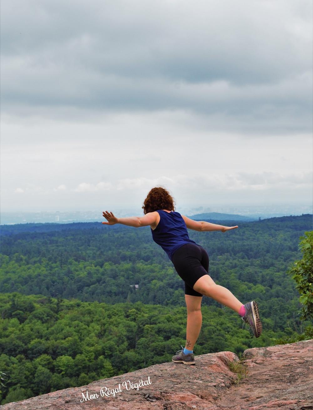 Merci à ma soeur Rosalie pour la photo prise au mont King au parc de la Gatineau :)