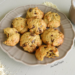 Biscuits aux brisures de chocolat & farine de pois chiches