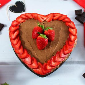 Gâteau d'Amour au chocolat & son glaçage onctueux au lait de coco et cacao {Végane}