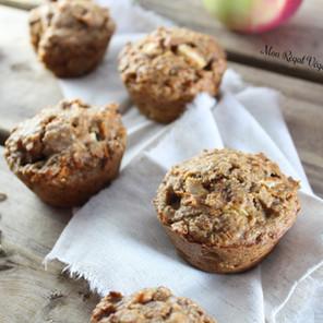 Muffins pommes & carottes {Végane, sans noix}