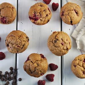 Muffins moelleux choco-framboises