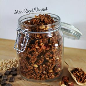 Granola choco-noisettes {Végane, sans gluten}