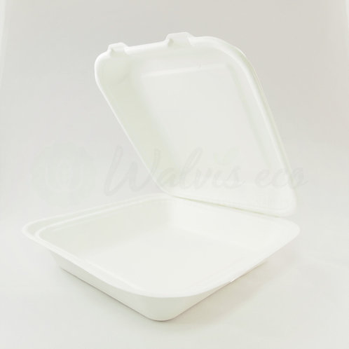 "8"" × 8"" Clamshell Containers - Single Compartment  (250/case)"