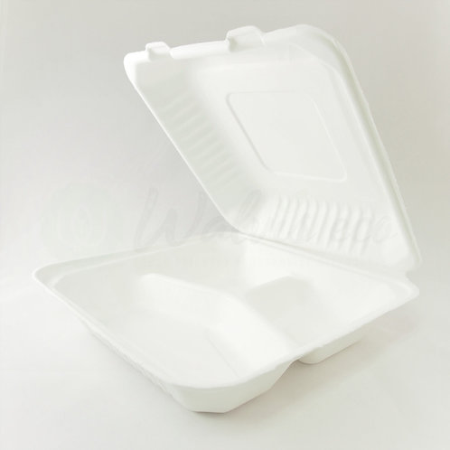 "8"" × 8"" Clamshell Containers - 3 Compartments (250/case)"