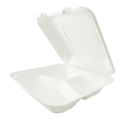 "9"" × 9"" Clamshell Containers  -   3 Compartments  (200/case)"