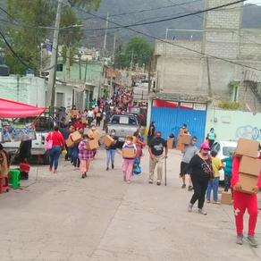 11 líderes del PRI son detenidos por reparto de miles de despensas y láminas