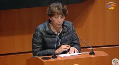Delfina Gómez ofende a sus compañeros de grupo político al presentar iniciativa