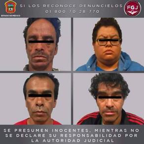 Capturan cuatro narcomenudiastas en Las vegas, Texcoco