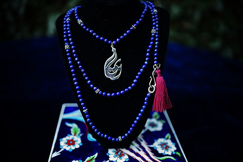 Eshq (Love) Lapis & Sterling Silver Necklace