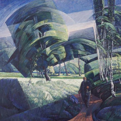 Retour - Oil on canvas - 145x162 - 2008