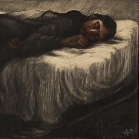 Portrait de Maria - Pastel on paper - 15