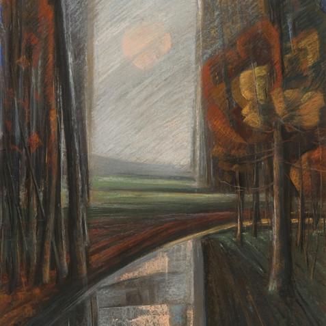 Pastel on cardborad - 110x65 - 2003