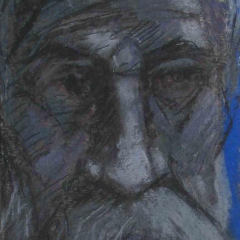 Self portrait - Pastel on Cardboard - 15